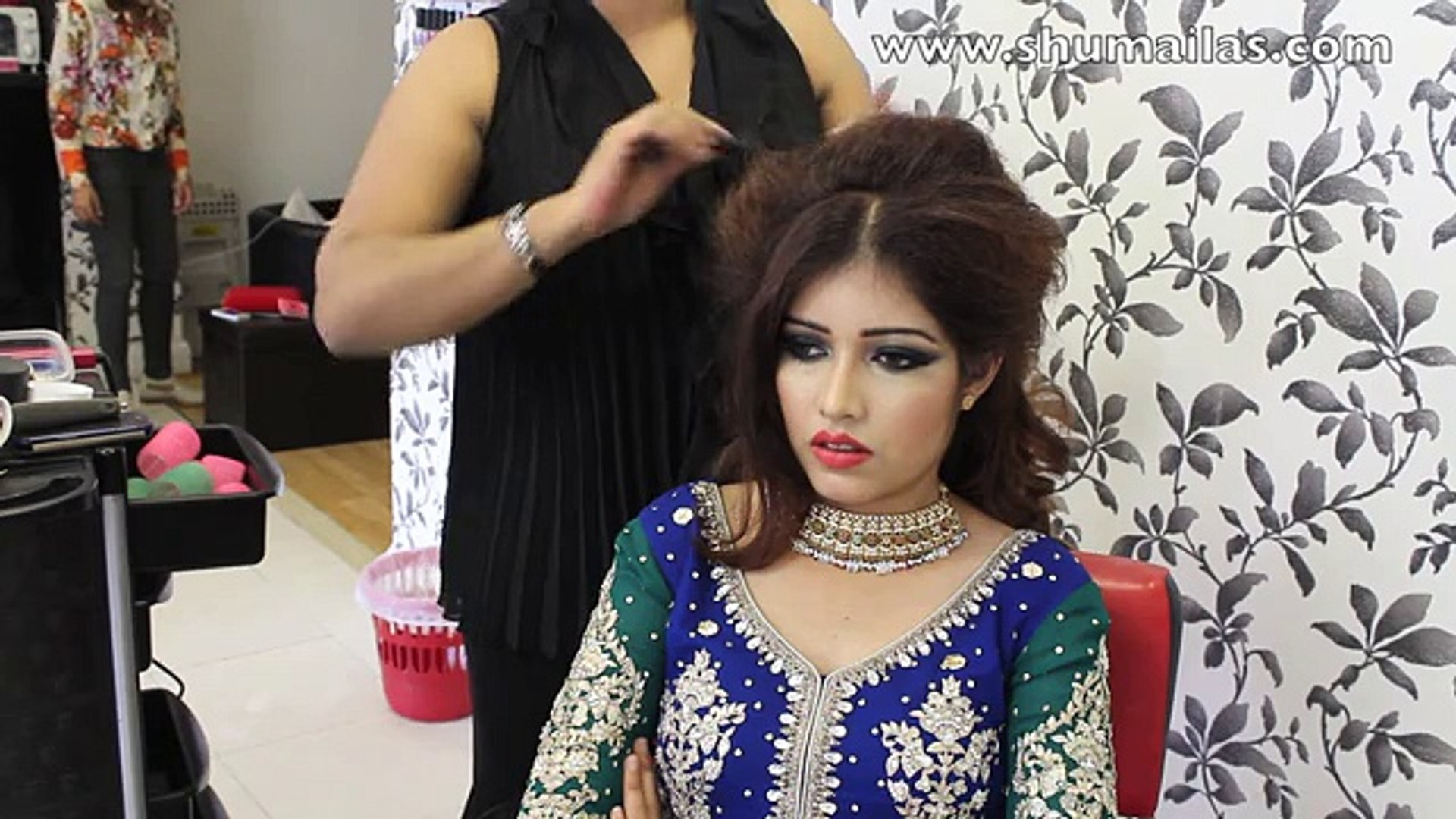 pakistani hair style tutorial - wedding hairstyles - mehndi hairstyle