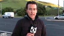 Une voiture fonce sur un journaliste après un accrochage