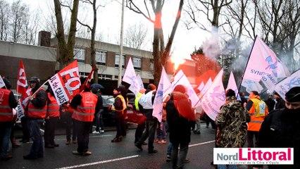 Manifestation contre la loi du travail à Calais le 9 mars 2016