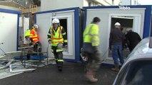 Brest. Quatre cabanes de chantier balayées par le vent, deux blessés