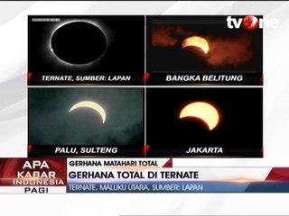 Posisi Gerhana Total di Ternate, Maluku Utara