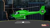 3D Helicopters Animation Teaching Colors, Learning Colours Video for Kids,Babies and Toddlers,Bibitv