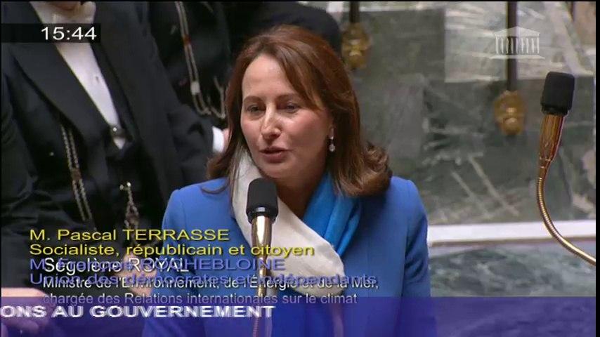 Gaz de Schiste : S. Royal répond à une question au Gouvernement