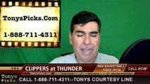 Oklahoma City Thunder vs. LA Clippers Free Pick Prediction NBA Pro Basketball Odds Preview 3-9-2016