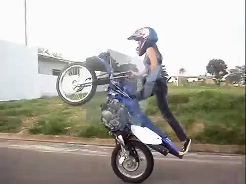 Amazing Girl Bike Riding