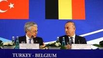 Bakan Çavuşoğlu, Belçikalı Mevkidaşını Yüzüne Baka Baka Eleştirdi