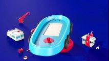 Jeu d'assemblage : le remorqueur. Dessins animés éducatifs pour les enfants sur bateaux en français  Dessins Animés Pour Enfants