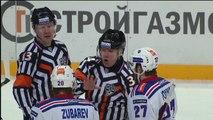 Denis Barantsev sent off for tackling puckless Jarno Koskiranta