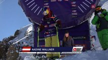 Run Nadine Wallner 2nd place - Fieberbrunn Kitzbüheler Alpen - Swatch Freeride World Tour 2016