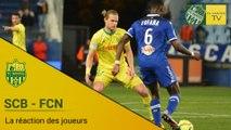 SCB-FCN : la réaction des joueurs