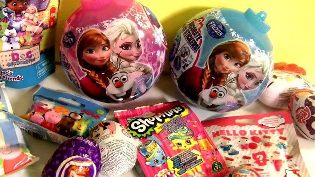 Disney Frozen Elsa Anna Toys SURPRISE Christmas ORNAMENTS MyLittlePony PlayDoh SHOPKINS Pe