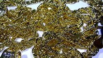 $395 30 piece Yellow Gold Wholesale deal! Cuban-Rope-Herringbone-Gucci Chains+Bracelets+Watches