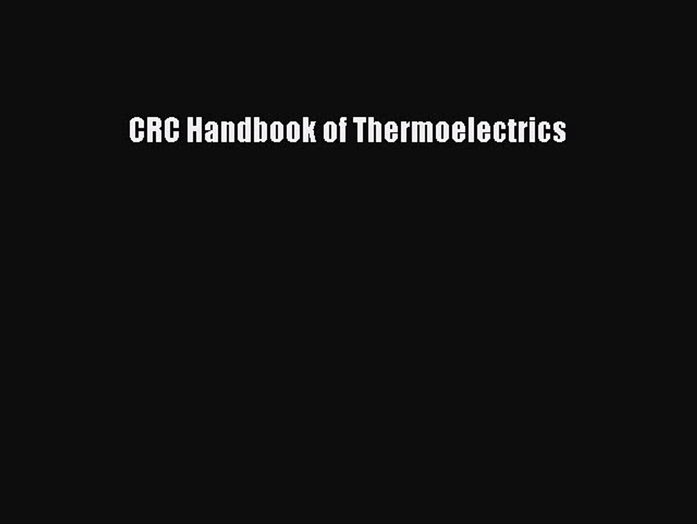 crc handbook of thermoelectrics pdf free download