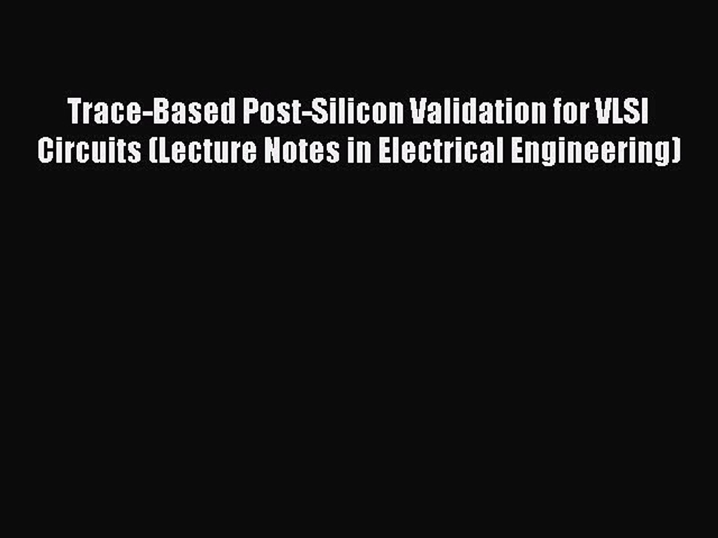 Trace Electrical Circuit