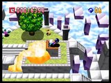 Bomberman 64 - World 6: Rainbow Palace - Stage 1: Beyond the Clouds. (Gold Cards / Custom Balls)
