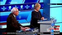 Clinton, Sanders spar in wide-ranging democratic debate