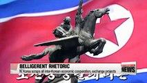 N. Korea scraps all inter-Korean economic cooperation and exchange projects between two Koreas