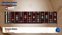 Reggae Blues in Fm Guitar Backing Track with scale chart