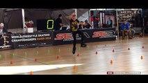Fantastic little girl !! Rollerblade Freestyle Slalom World Championship Paris 2016 (dancing)