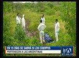 En 15 días se sabrá si los cuerpos pertenecen a las turistas argentinas