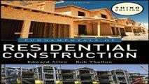 Read Fundamentals of Residential Construction Ebook pdf download