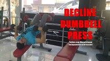 Vücut Geliştirme Hareketleri - Decline Dumbbell Press
