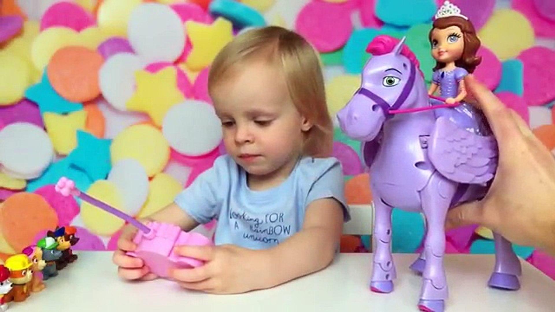 Принцесса София прекрасная и конь Минимус игрушка для детей Sofia The First