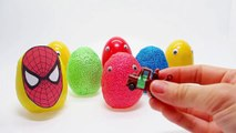 Spiderman in Cars City! All Toys Collection - McQueen Mater Play Doh Disney Pixar in Surprise Eggs