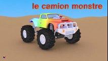 Jeu d'assemblage : le camion monstre. Dessin animé francais. Monster trucks for children  Meilleurs Dessins Animés