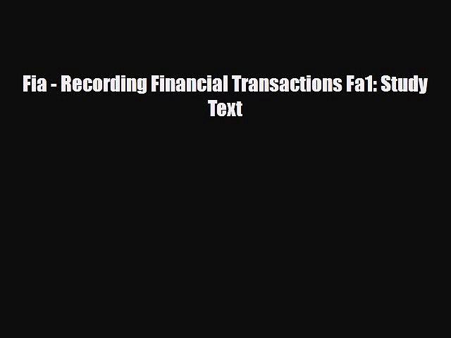 Fa1 recording financial transactions ebook