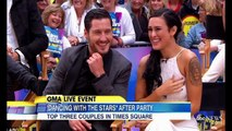 Rumer Willis and Val Chmerkovskiy do victory dance after Mirror Ball win on GMA