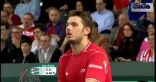 Stanislas Wawrinka vs Lukas Rosol 2013 Davis Cup Highlights