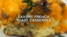 Savory bagel french toast casserole