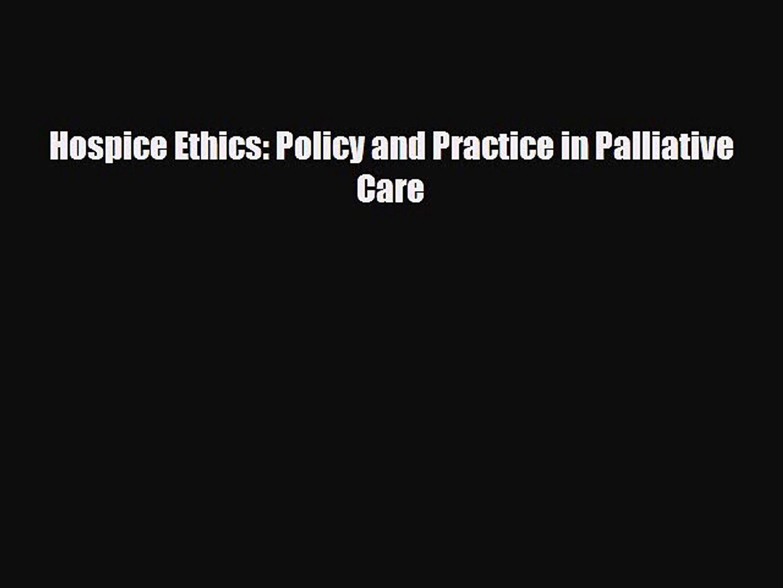 6 Principles of palliative care
