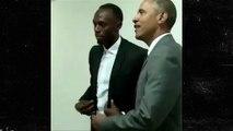 President Obama -- Strikes Lightning Pose ... With Usain Bolt