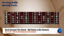 Rock Around The Clock - Bill Haley & His Comets Guitar Backing Track with scale chart