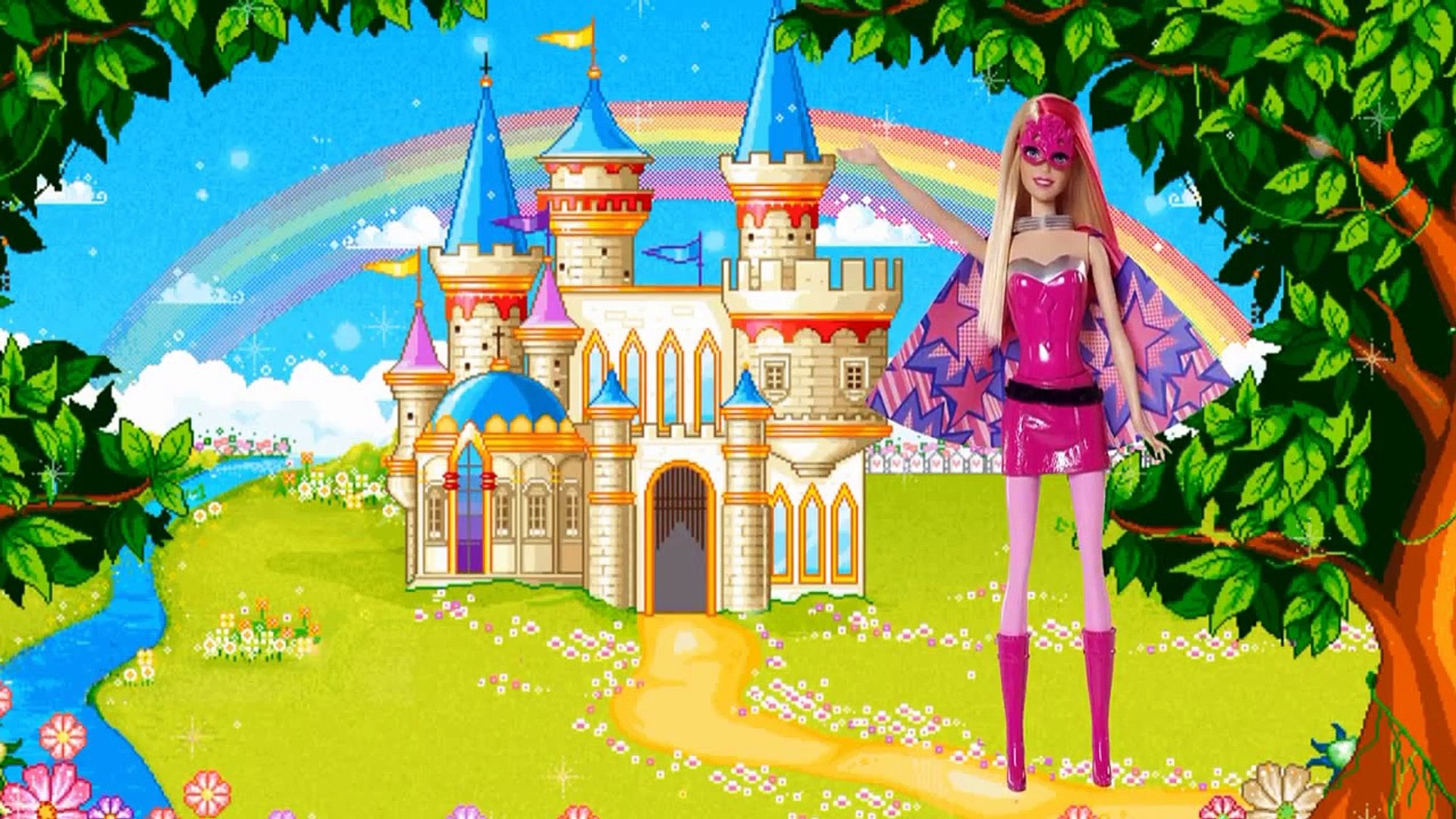 Barbie superhero Barbie superprintsesa Finger family Song Finger Family Barbie for kids Barbie