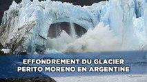 Effondrement du glacier Perito Moreno en Argentine
