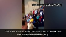 Trump supporter turns on black man at rally