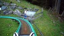 Un Roller Coaster à couper le souffle dans les montagnes en Suisse