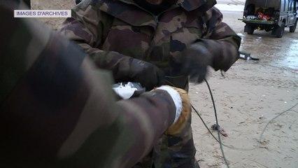 Opération de déminage à Quend plage