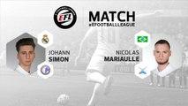 eSport - E-Football League : le résumé du match entre Johann Simon et Nicolas Mariaulle
