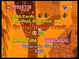 Bomberman 64 - World 3: Red Mountain - Stage 3: On the Right Track (Gold Cards and Custom Balls)