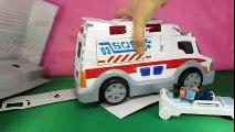 Dessins animés sur les Voitures. Jouet Ambulance pour enfants DickieToys  Dessins Animés En Français