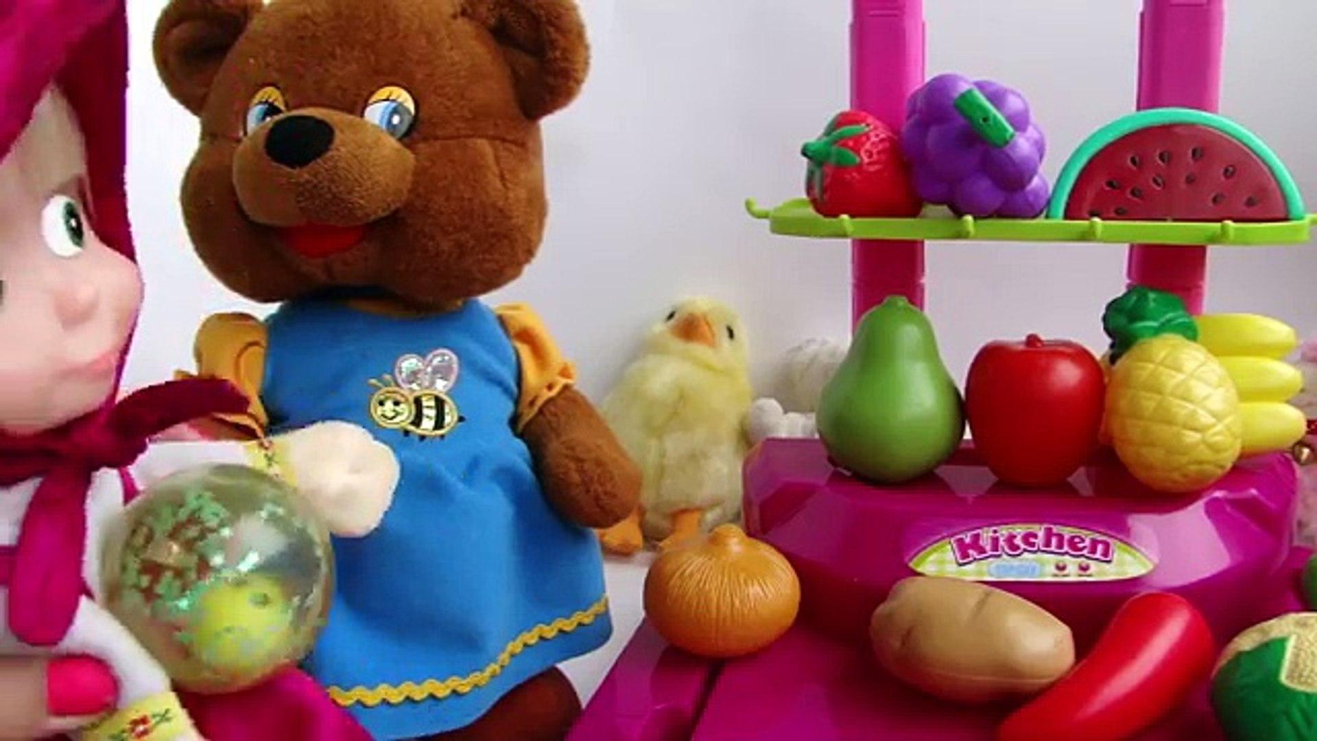 Маша и медведь. Покупки. Овощи, ягоды и фрукты.