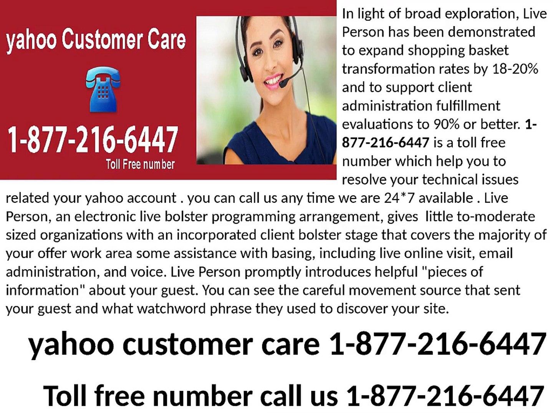yahoo customer care 1-877-216-6447 yahoo help desk
