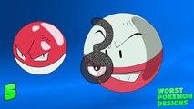 Top 5 Worst Pokemon Designs