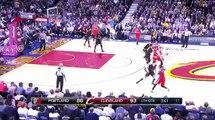 Matthew Dellavedova tosses Mason Plumlee flagrant foul | Trail Blazers v Cavaliers 8 Dec 2