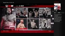 WWE 2K16 Steve Austin Showcase Mode Vs Jake the snake Roberts King of the Ring 1996