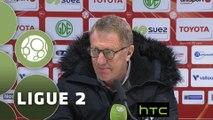Conférence de presse Valenciennes FC - Stade Brestois 29 (0-1) : Faruk HADZIBEGIC (VAFC) - Alex  DUPONT (BREST) - 2015/2016